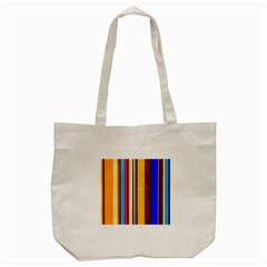 Colorful Stripes Tote Bag (cream) by FunnyCow