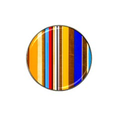 Colorful Stripes Hat Clip Ball Marker (4 Pack) by FunnyCow