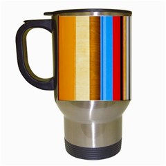 Colorful Stripes Travel Mugs (white) by FunnyCow