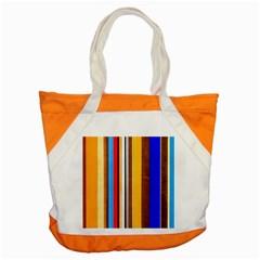 Colorful Stripes Accent Tote Bag by FunnyCow