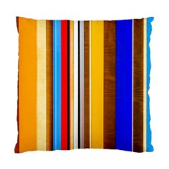 Colorful Stripes Standard Cushion Case (one Side) by FunnyCow