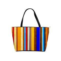 Colorful Stripes Shoulder Handbags by FunnyCow