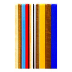 Colorful Stripes Shower Curtain 48  X 72  (small)  by FunnyCow