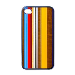 Colorful Stripes Apple Iphone 4 Case (black) by FunnyCow