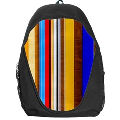 Colorful Stripes Backpack Bag by FunnyCow