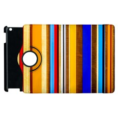Colorful Stripes Apple Ipad 3/4 Flip 360 Case by FunnyCow