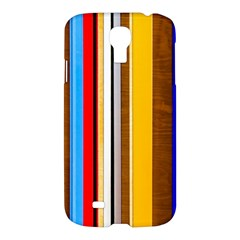 Colorful Stripes Samsung Galaxy S4 I9500/i9505 Hardshell Case by FunnyCow