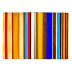 Colorful Stripes Samsung Galaxy Tab 10 1  P7500 Flip Case by FunnyCow