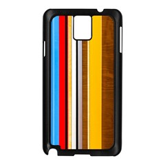 Colorful Stripes Samsung Galaxy Note 3 N9005 Case (black) by FunnyCow