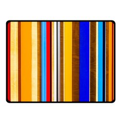 Colorful Stripes Double Sided Fleece Blanket (small)  by FunnyCow