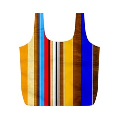 Colorful Stripes Full Print Recycle Bags (m)  by FunnyCow