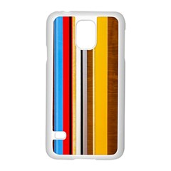 Colorful Stripes Samsung Galaxy S5 Case (white) by FunnyCow
