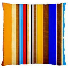 Colorful Stripes Standard Flano Cushion Case (one Side) by FunnyCow