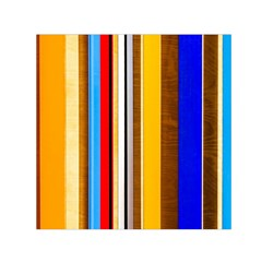Colorful Stripes Small Satin Scarf (square) by FunnyCow