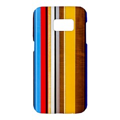 Colorful Stripes Samsung Galaxy S7 Hardshell Case  by FunnyCow