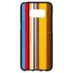 Colorful Stripes Samsung Galaxy S8 Black Seamless Case by FunnyCow