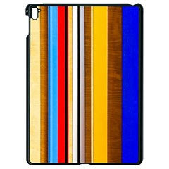 Colorful Stripes Apple Ipad Pro 9 7   Black Seamless Case by FunnyCow