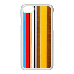 Colorful Stripes Apple Iphone 8 Seamless Case (white) by FunnyCow