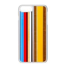 Colorful Stripes Apple Iphone 8 Plus Seamless Case (white) by FunnyCow