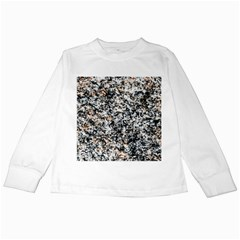 Granite Hard Rock Texture Kids Long Sleeve T Shirts by FunnyCow