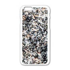 Granite Hard Rock Texture Apple Iphone 6/6s White Enamel Case by FunnyCow