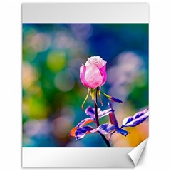 Pink Rose Flower Canvas 12  X 16   by FunnyCow