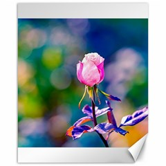Pink Rose Flower Canvas 16  X 20   by FunnyCow