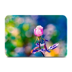 Pink Rose Flower Plate Mats by FunnyCow