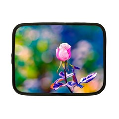 Pink Rose Flower Netbook Case (small)  by FunnyCow