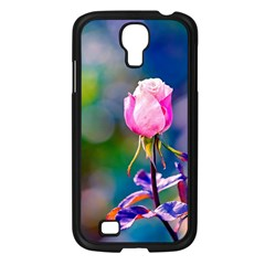 Pink Rose Flower Samsung Galaxy S4 I9500/ I9505 Case (black) by FunnyCow