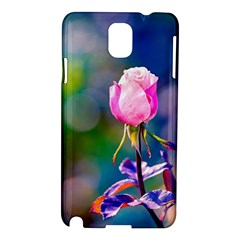 Pink Rose Flower Samsung Galaxy Note 3 N9005 Hardshell Case by FunnyCow