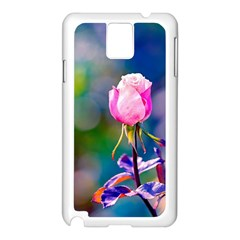 Pink Rose Flower Samsung Galaxy Note 3 N9005 Case (white) by FunnyCow