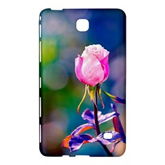 Pink Rose Flower Samsung Galaxy Tab 4 (8 ) Hardshell Case  by FunnyCow