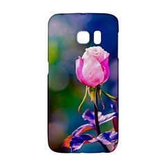 Pink Rose Flower Samsung Galaxy S6 Edge Hardshell Case by FunnyCow