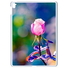 Pink Rose Flower Apple Ipad Pro 9 7   White Seamless Case by FunnyCow