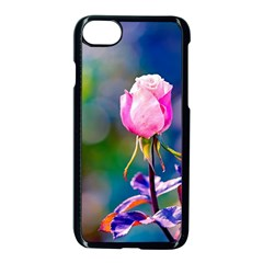 Pink Rose Flower Apple Iphone 8 Seamless Case (black) by FunnyCow