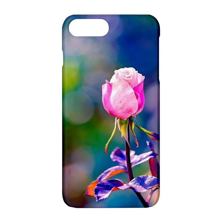 Pink Rose Flower Apple iPhone 8 Plus Hardshell Case