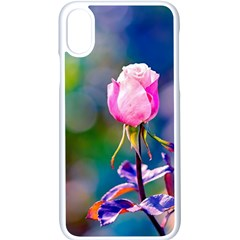 Pink Rose Flower Apple Iphone X Seamless Case (white) by FunnyCow