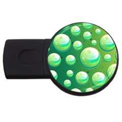 Background Colorful Abstract Circle Usb Flash Drive Round (4 Gb)