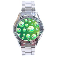 Background Colorful Abstract Circle Stainless Steel Analogue Watch