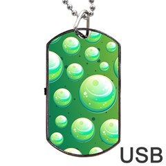 Background Colorful Abstract Circle Dog Tag Usb Flash (two Sides)