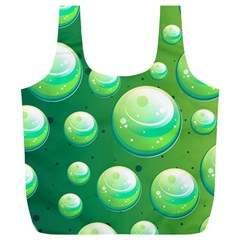 Background Colorful Abstract Circle Full Print Recycle Bags (l)