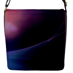 Abstract Form Color Background Flap Messenger Bag (s)