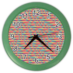 Background Abstract Colorful Color Wall Clocks