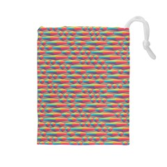 Background Abstract Colorful Drawstring Pouches (large)