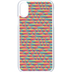 Background Abstract Colorful Apple Iphone X Seamless Case (white) by Nexatart