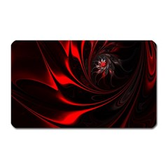 Abstract Curve Dark Flame Pattern Magnet (rectangular)