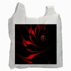 Abstract Curve Dark Flame Pattern Recycle Bag (two Side)  by Nexatart