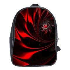 Abstract Curve Dark Flame Pattern School Bag (large)