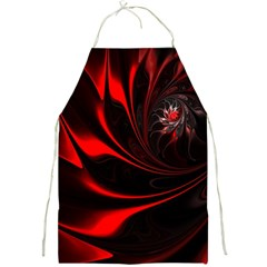 Abstract Curve Dark Flame Pattern Full Print Aprons